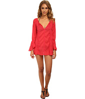 Vix - Sofia by Vix Solid Pink Natasha Chemise Cover-Up
