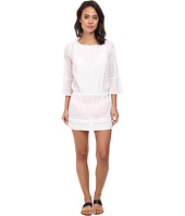 Vix - Sofia by Vix Solid White Daria Short Dress Cover-Up