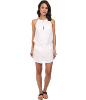Vix - Solid White Ninfa Caftan Cover-Up
