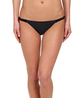 Vix - Solid Black Macramé Detail Full Bottom