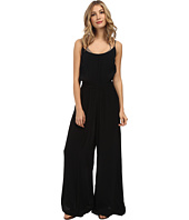 Vix - Solid Black Katy Jumpsuit Cover-Up