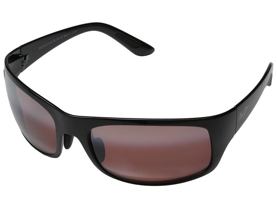 Maui Jim - Haleakala (Gloss Black/Maui Rose) Fashion Sunglasses