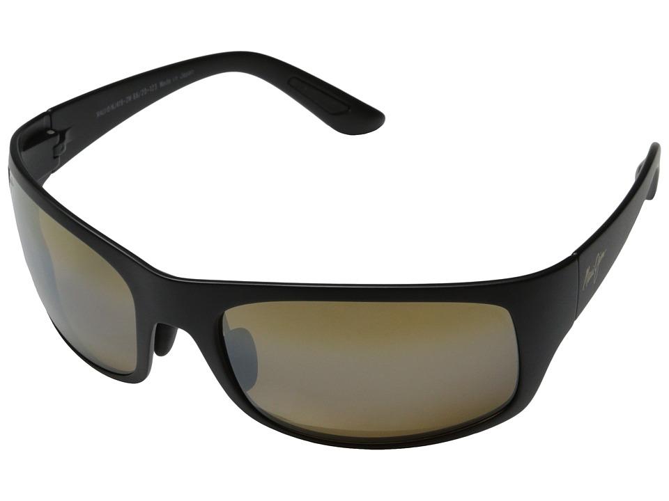 Maui Jim Haleakala Matte Black/HCL Bronze Fashion Sunglasses