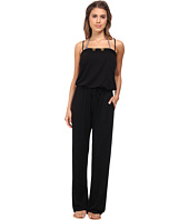 Bleu Rod Beattie - Totally Tubular Solids Jumpsuit w/ Shelf Bra & Cups Cover-Up