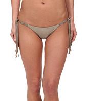 Vix - Solid Shitake Tri Macramé Tie Brazilian Bottom