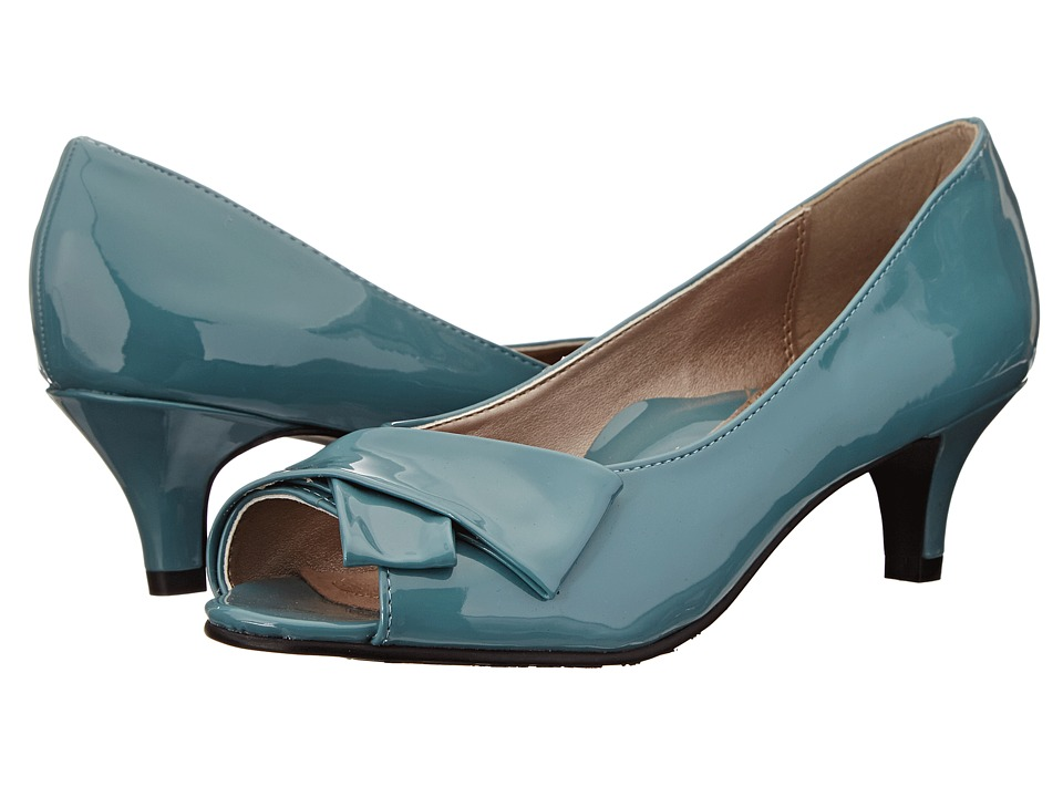 Soft Style - Aubrey Soft Blue Patent Womens 1-2 inch heel Shoes $59.00 AT vintagedancer.com