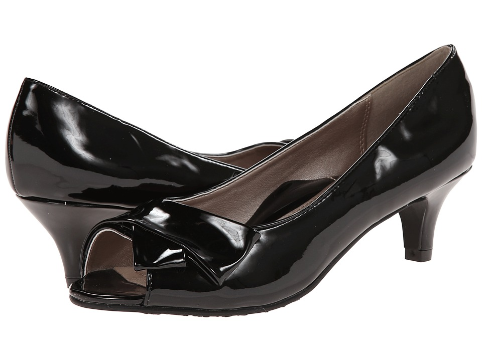 Soft Style - Aubrey Black Patent Womens 1-2 inch heel Shoes $59.00 AT vintagedancer.com