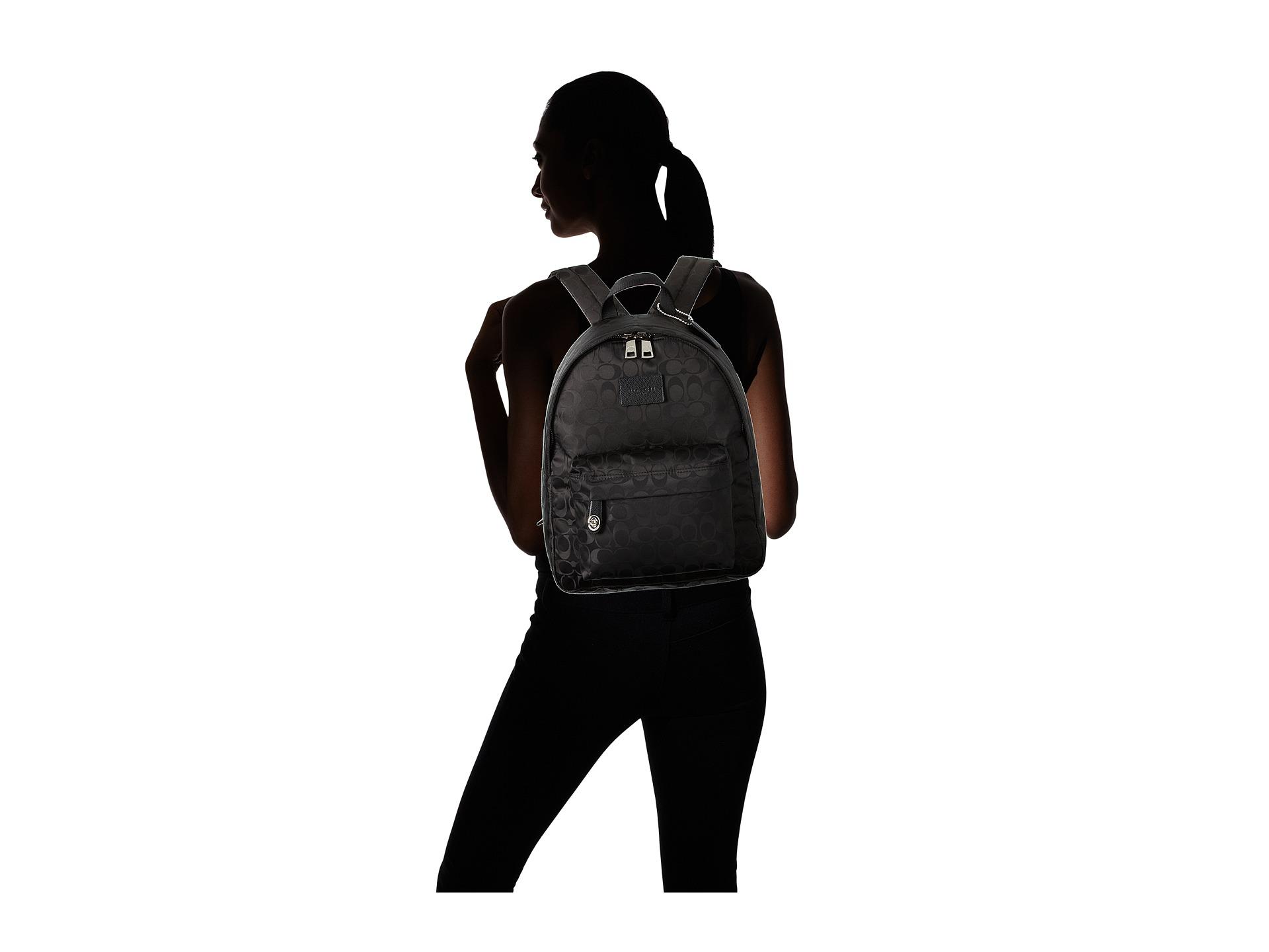 coach nylon small backpack svblack zapposcom free