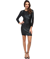 ABS Allen Schwartz - Matte Sequin Bodycon Dress w/ Mesh