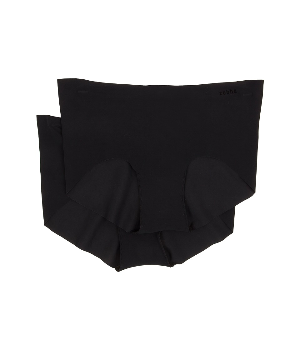 Zobha 2 Pack Boyshort Black Womens Underwear