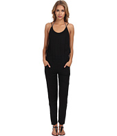 MIKOH SWIMWEAR - Nazare Thin Strap Pant Romper with Scoop Neck and Back Detail Cover-Up