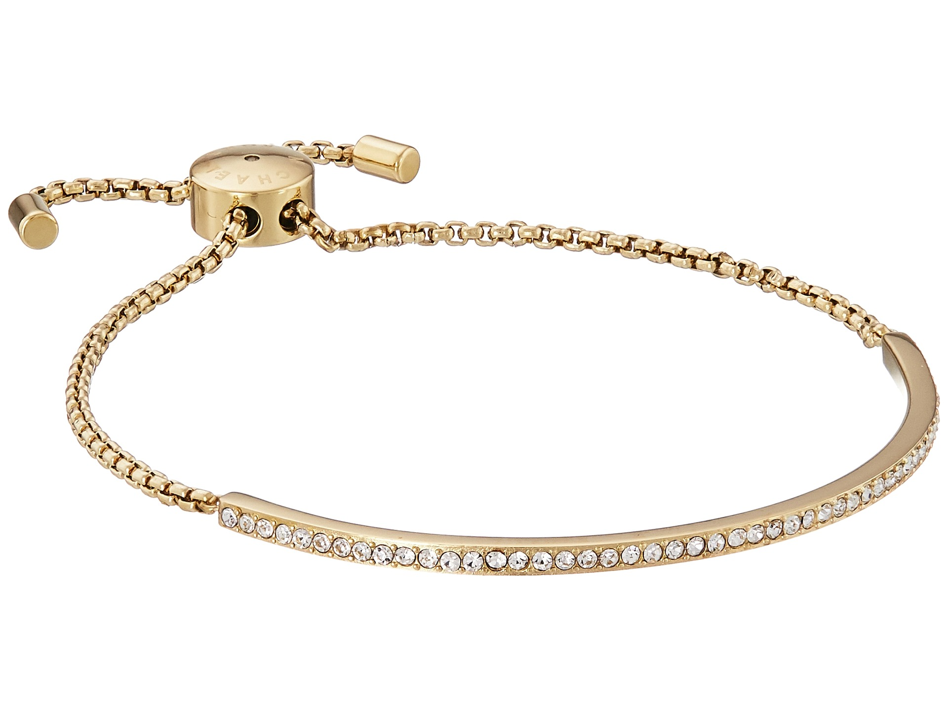 michael kors brilliance pave bar slider bracelet at zappos