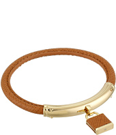 Michael Kors - Leather with Foil Logo Padlock Bracelet