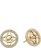 Michael Kors - Monogram & Pave Stud Earring