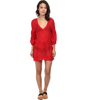 Vix - Solid Red Julie Tunic