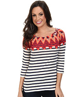 Lucky Brand - Ikat Boatneck Top 7W62013