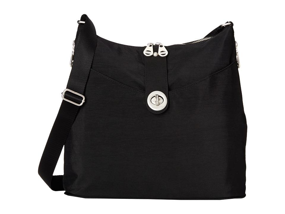 Baggallini Helsinki Bagg Black/Sand Cross Body Handbags