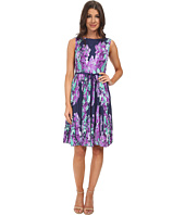 Adrianna Papell - Floral Print Pleated Dress