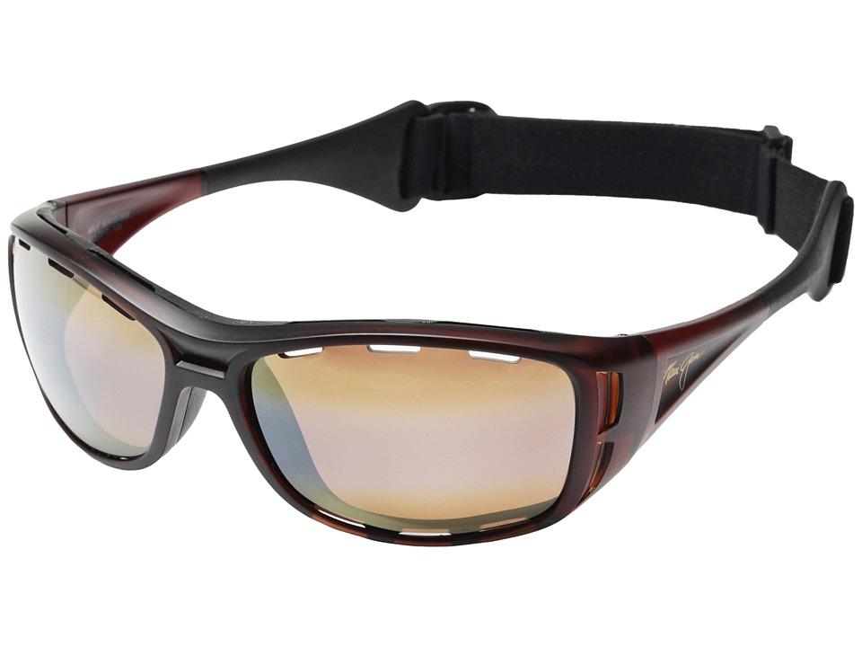 Maui Jim Waterman Matte Rootbeer/HCL Bronze Fashion Sunglasses