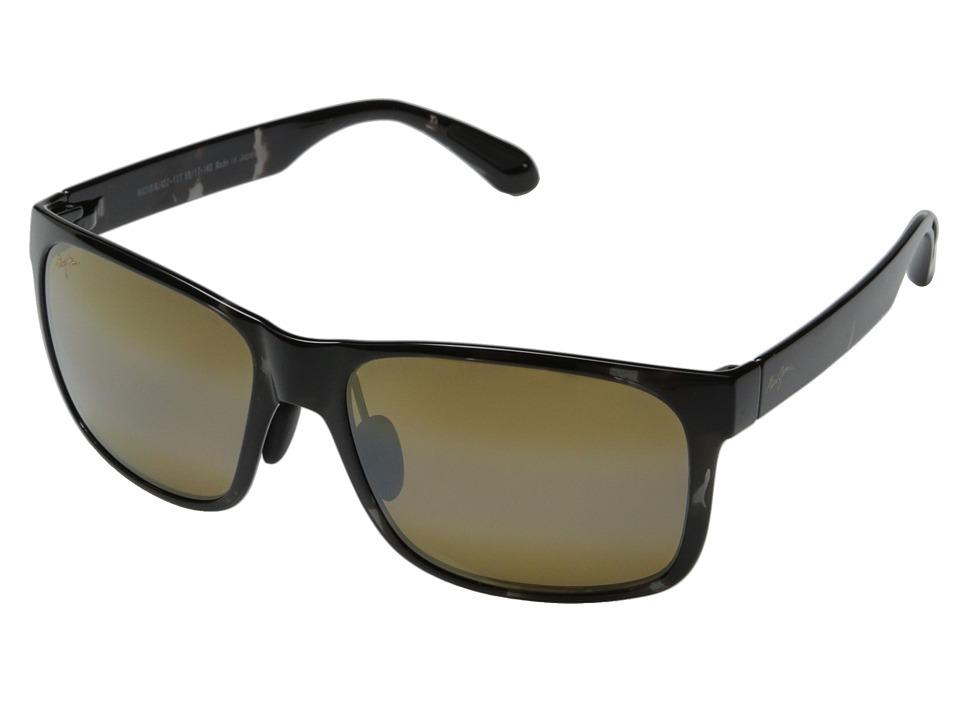 Maui Jim Red Sands Black/Grey Tortoise/HCL Bronze Fashion Sunglasses
