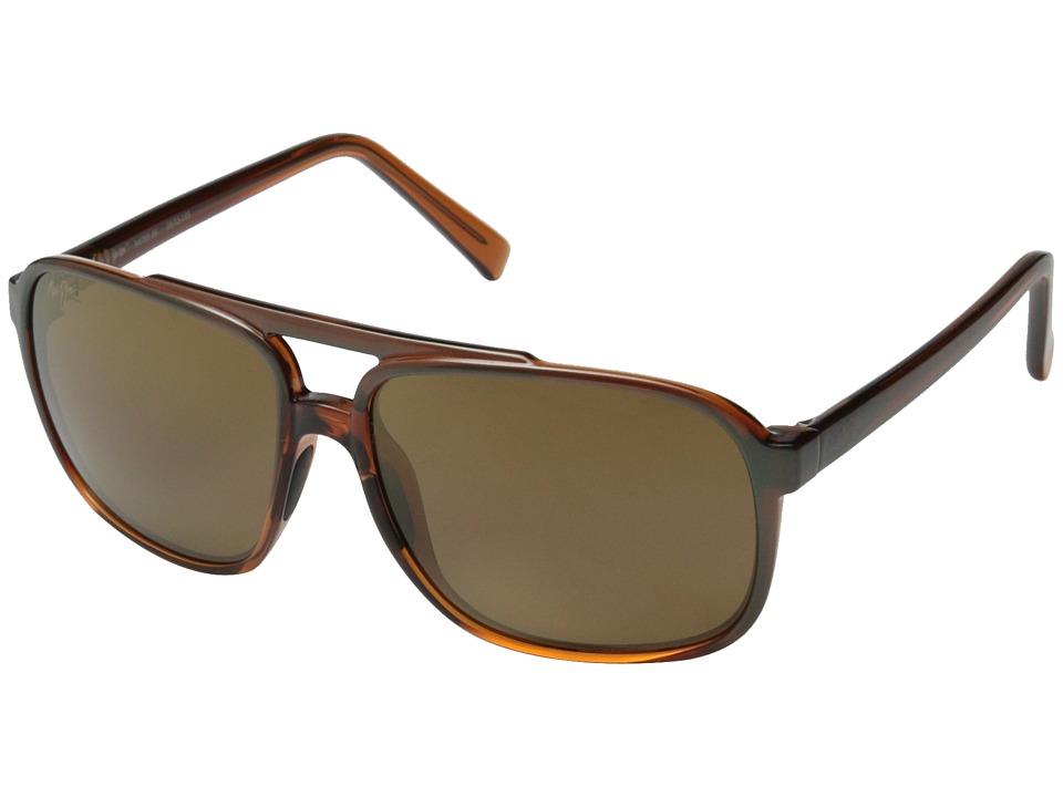 Maui Jim Silversword Brown/Iridescent Aqua/HCL Bronze Fashion Sunglasses
