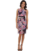 Adrianna Papell - Sheer Illusion Sheath Dress w/ Ribbon
