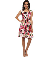 Adrianna Papell - Sleeveless Pleated Print Dress