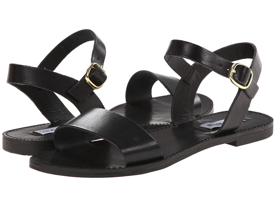 Steve Madden - Donddi (Black Leather) Women's Sandals