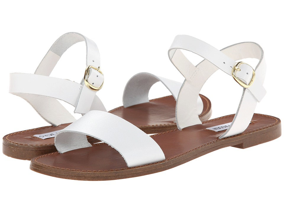 Steve Madden Donddi Sandal (White Leather) Sandals