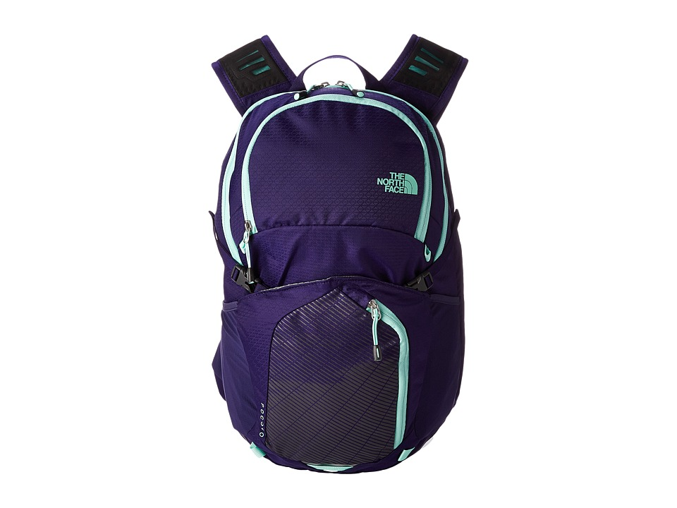 The North Face - Pocono (Garnet Purple/Surf Green) Backpack Bags