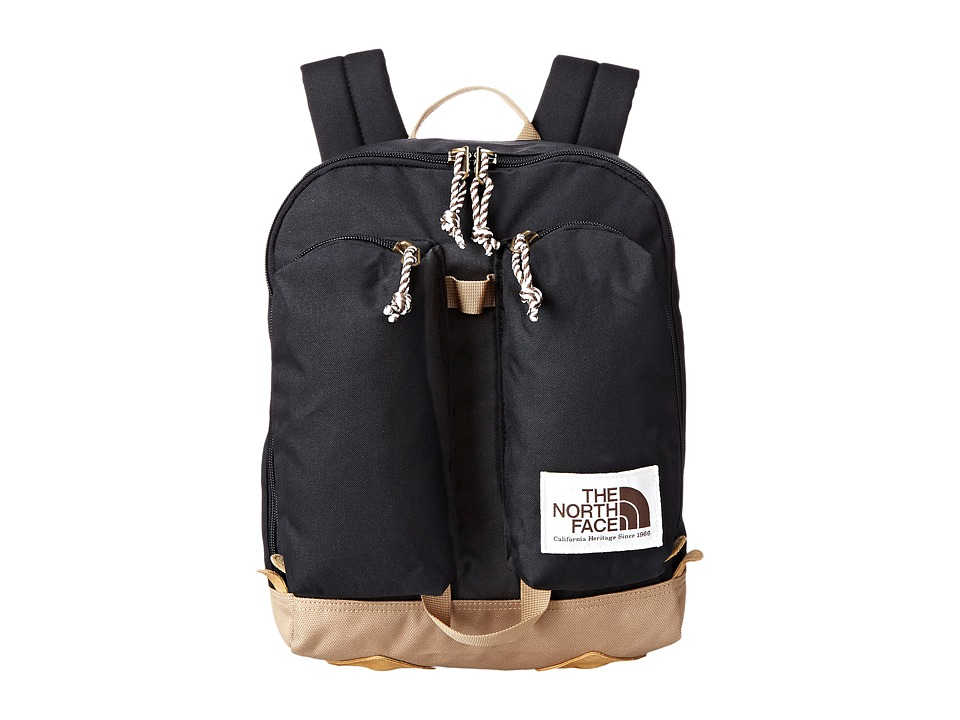 The North Face - Mini Crevasse (Big Kid) (TNF Black/Moab Khaki) Backpack Bags