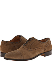 Doucal's - Suede Perforated Captoe Oxford