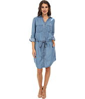 Miraclebody Jeans - Dixie Tencel Denim Dress w/ Body-Shaping Inner Shell