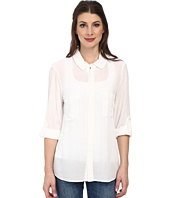 Miraclebody Jeans - Christa Collared Blouse w/ Body-Shaping Inner Shell