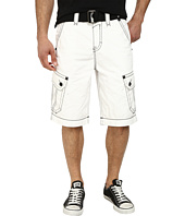 Rock Revival - Cargo Short in White/Black