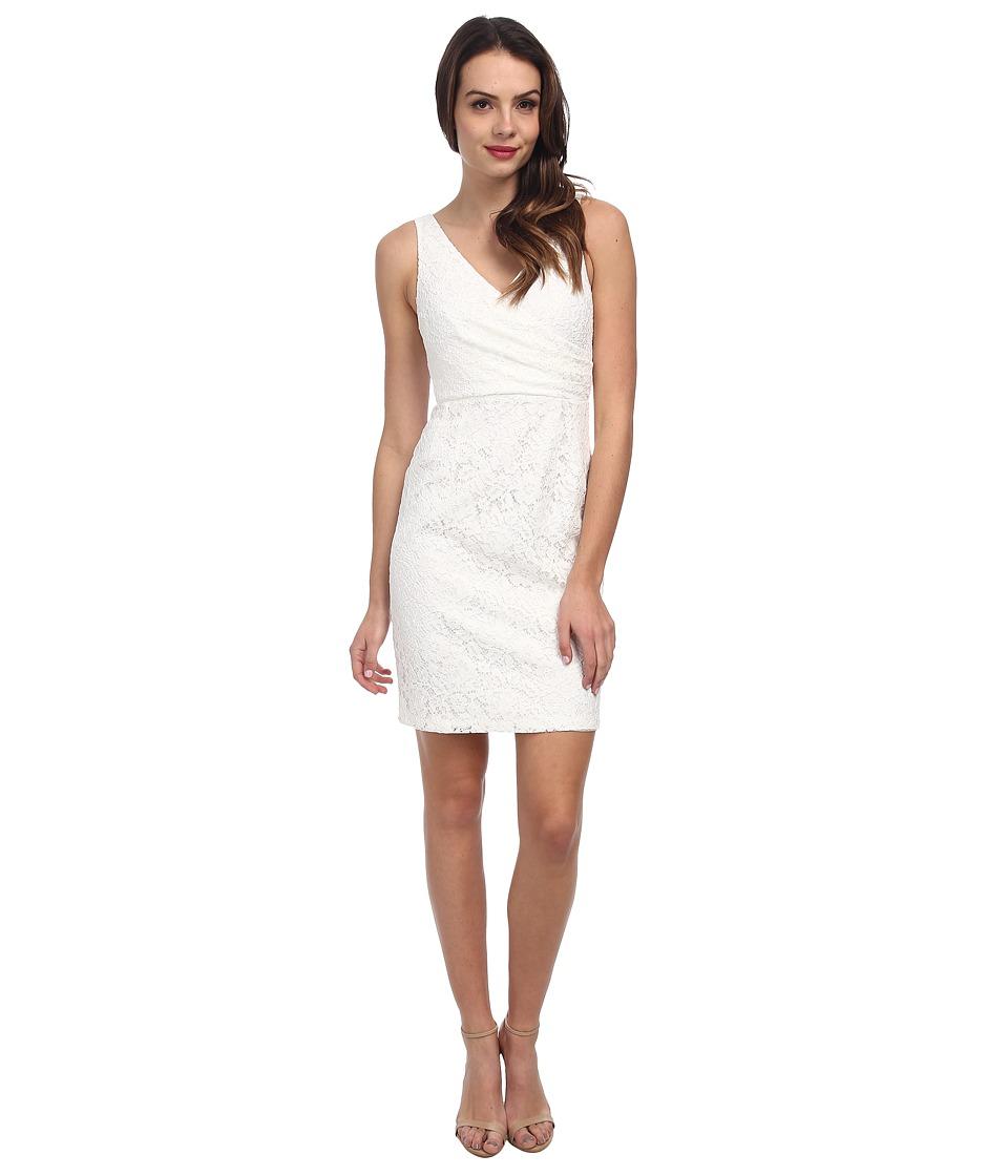 Donna Morgan Lulu V-Neck Lace Dress (Ivory) Women
