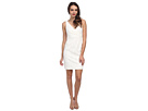Donna Morgan Lulu V-Neck Lace Dress (Ivory)