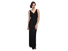 Donna Morgan Lark V-Neck Lace Gown (Black)