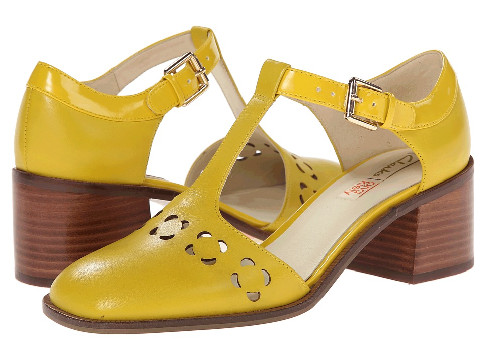 Clarks - Orla Bibi (Yellow Leather) Women's  Shoes