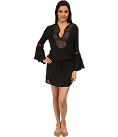 Vix - Solid Black Bella Tunic Cover-Up