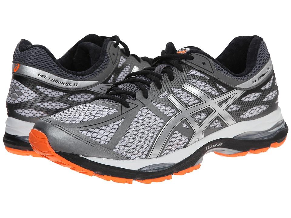 ASICS Gel Cumulus 17 White/Silver/Hot Orange Mens Running Shoes