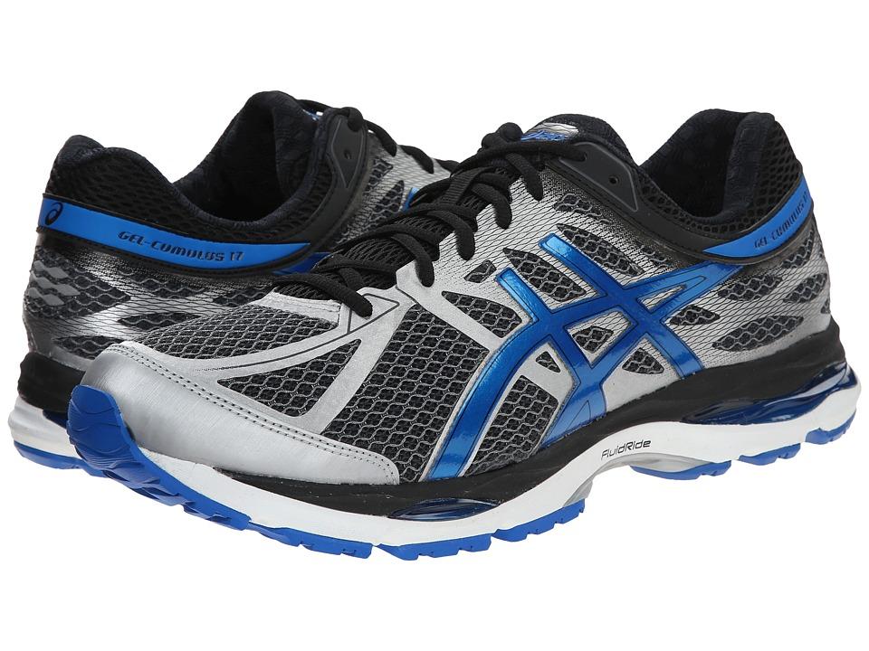 ASICS Gel Cumulus 17 Mix Grey/Electric Blue/Black Mens Running Shoes