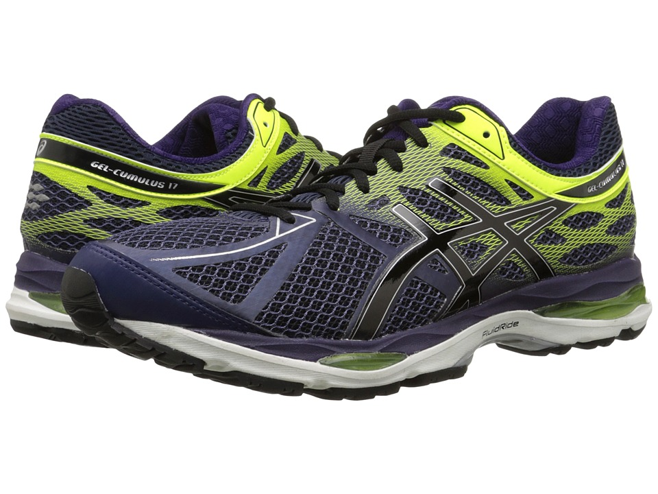 ASICS Gel Cumulus 17 Indigo Blue/Black/Flash Yellow Mens Running Shoes