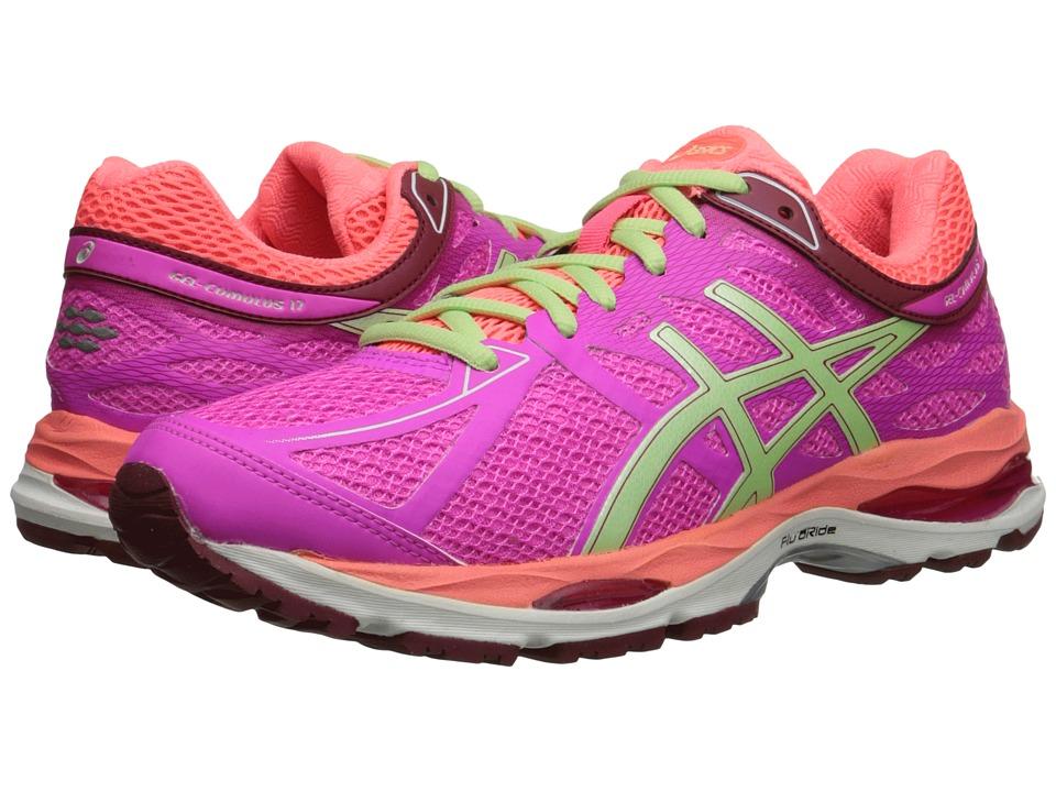 ASICS Gel Cumulus 17 Pink Glow/Pistachio/Flash Coral Womens Running Shoes