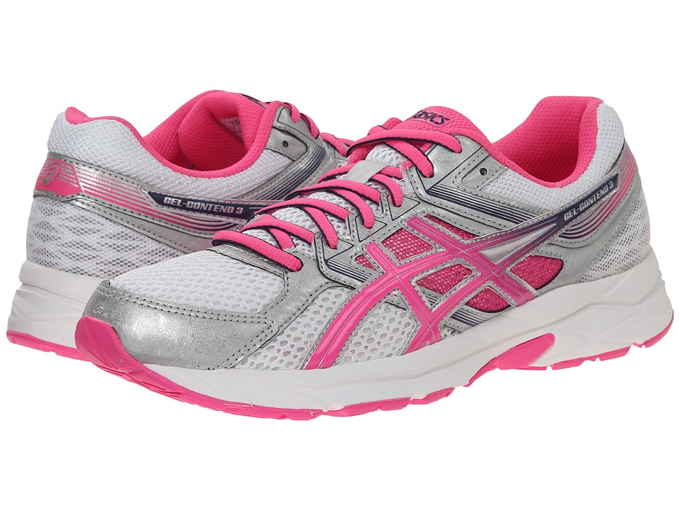 ASICS - GEL-Contend 3 (White/Hot Pink/Indigo Blue) Women