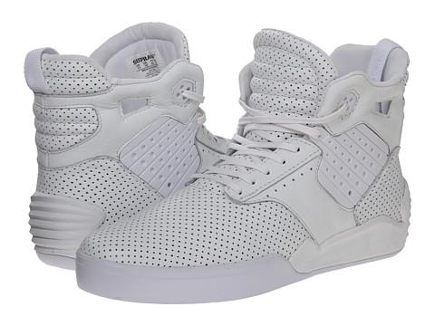 Supra Shoes Skytop High Top White Textile