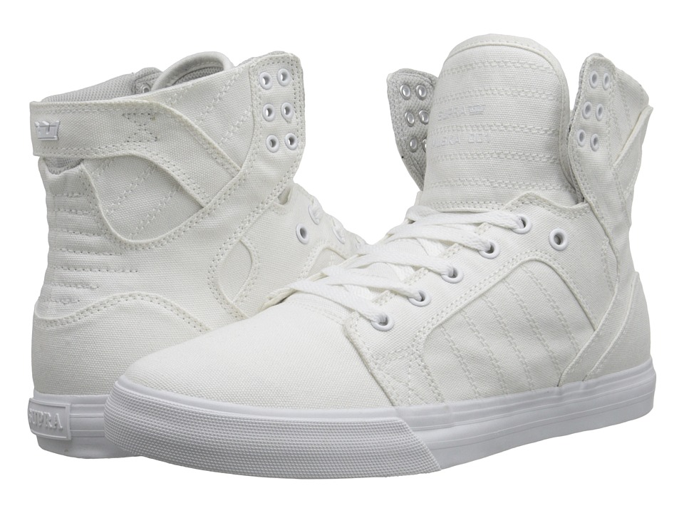 Supra Skytop D Off White/White Mens Skate Shoes