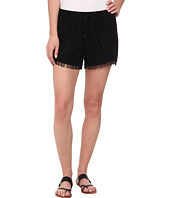 Sam Edelman - Fringe Trim Short w/ Smocked Waist