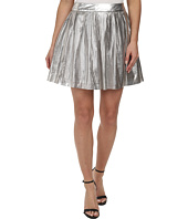 Sam Edelman - Silver Pleated Perforated Pu Skirt