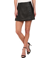 BCBGMAXAZRIA - Myra Woven Skirt Faux Leather